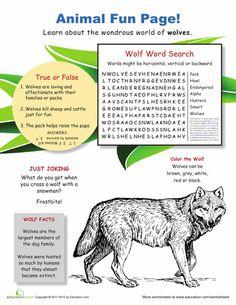 Worksheets: Wild World of Wolves
