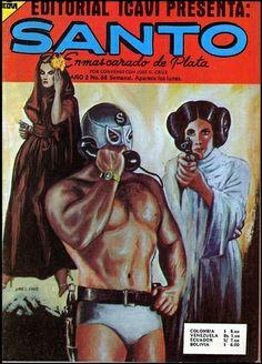 Princess leia, Santo, wrestler, telephone