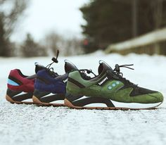 Saucony Grid 9000-Navy Green and Red (Spring 2014)
