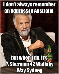 Tickled #476: I don't always remember an address in Australia, but when I do, it's P. Sherman 42 Wallaby Way, Sydney.