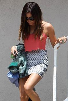 Seven Band Arrow Mini Skirt