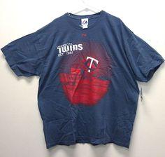 Just $18.99 !! NEW/NWT Minnesota Twins Raised Silk Screen T-Shirt - XXL - Gray - MLB #Majestic #MinnesotaTwins