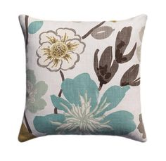 Braemore Gorgeous Pearl Pillow Cover Teal Brown Beige