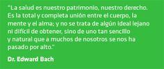Frase de Edward Bach