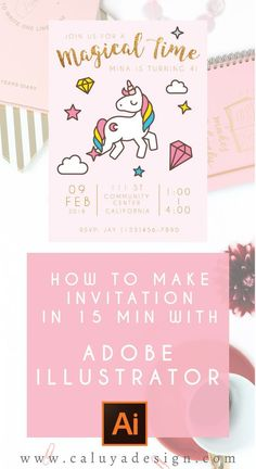 Adobe Illustrator 101- how to make invitation in 15 minutes with Adobe Illustrator and free vector art from freepik.com! This is a easy tutorial on how to use Adobe Illustrator, even if you have no experience with the program, you can easily make custom invitation by using Adobe Illustrator program. DIY invitation, DIY graphic design, Vide tutorial, illustrator tutorial, how to use adobe illustrator, how to make invitation, how to design invitation for party, DIY party supply, party…