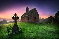 Saul Abbey near Downpatrick, Co. Down, photographed by Stephen Emerson.