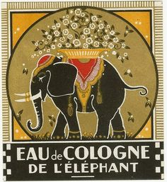 Vintage Illustrations {title} (Vintage Cosmetics Graphic Design Art Prints) - These prints are made at our location in Seattle, WA. Vintage Elephant, Elephant Art, Elephant Images, Elephant Logo, Retro Poster, Vintage Posters, Vintage Artwork, Elephant Illustration, Illustration Art