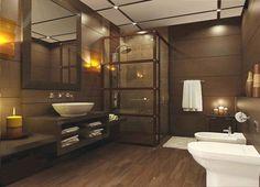 Minimalist modern #bathroom design. http://www.remodelworks.com/