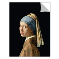 ArtApeelz 'Girl with a Pearl Earring' by Johannes Vermeer Painting Print Removable Wall Decal