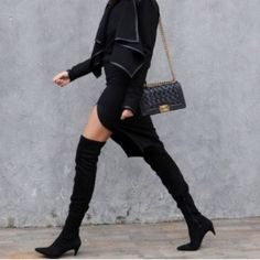 9d5aa721a52 Zara over the knee kitten heel boots Darling boots! Size 6 I just walked  around in them so they are brand new Zara Shoes Over the Knee Boots