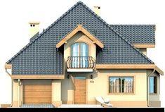 DOM.PL™ - Projekt domu DN Magnolia CE - DOM PC1-20 - gotowy koszt budowy Beautiful Small Homes, Bungalow House Plans, Micro House, Home Fashion, Small Towns, Magnolia, Building A House, Photos, Villa