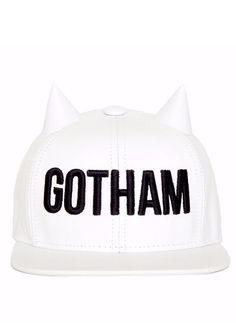Gotham White Horned Snapback