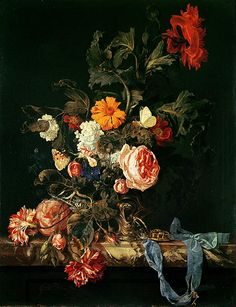 Date unknown - Aelst, van Willem - Still Life with Poppies and Roses Paintings