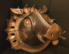Tattoo Art Bronze Boar's Head Massive Tibetan Wall Plaque Unique Hand Crafted | eBay