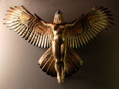 Phoenix wood carving Nike Of The Forest Phoenix  Jason Tennant wood carving