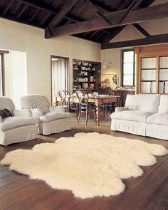 TEJN Rug, white | Faux sheepskin rug, Sarah richardson christmas and ...