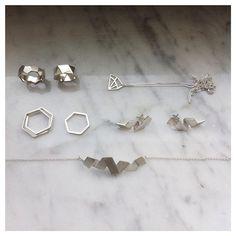 C U R R E N T F A V S -  #dvjewellery #dvjewelleryfavs #silverjewels #geometricjewellery #minimaljewels #timeless #jewelry #jewellery #jewellovers #style #simplicity