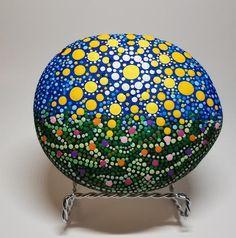 Vintage Love, Etsy Vintage, Vintage Items, Pebble Painting, Pebble Art, Etsy Handmade, Handmade Items, Painted River Rocks, Christmas Rock