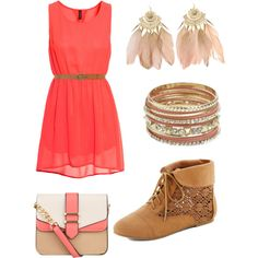 country dress. Created by iamkellaylay on Polyvore.