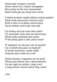 """""""List do nieznanego poety""""  Rafał Wojaczek"""