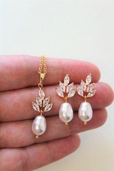 654701afd Bridal Earrings Necklace set , Art Deco Earrings, Pearl Drop Earrings  ,Wedding Earrings, Bridal Jewellery, Wedding Jewelry set ,Bridesmaid