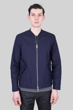 Polyester Rib Jacket - Navy
