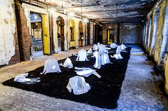 Frederiquie Chaveaux installation at Maison Martin Margiela for H & M   Pop Up  1351105108-2c4ac.png (570×380)