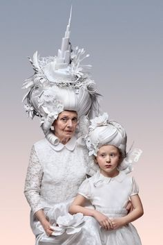 As perucas de papel inspiradas no barroco e rococó de Asya Kozina e Dmitriy Kozin