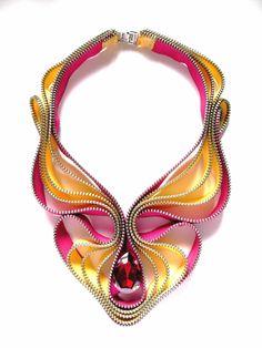 Summer Knight Zipper Necklace. $120.00, via Etsy.