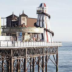 Brighton, Brighton Pier,  Amusement park, Carousel, Brighton Beach,