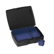 Laptop Lunches - Bento Lunch Box 2.0 - Black / Blue
