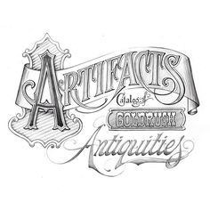 Wow, Hand drawn Typography can be quite beautiful. #Typography #design #art