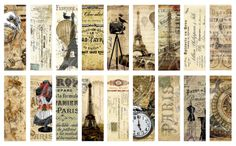 French Ephemera | download of 18 microscope slide sized images of French ephemera ...