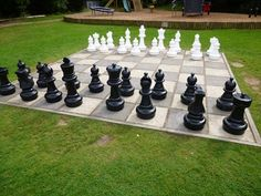 Giant Chess - Bletchley Park - Buckinghamshire - Great Britain. - Giant Board Games on Waymarking.com Outdoor Play, Outdoor Living, Giant Chess, Bletchley Park, Lets Play A Game, Traditional Games, Summer Games, Lawn And Garden, Great Britain
