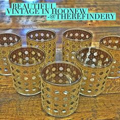If you missed my Instagram Stories yesterday you may have missed these amazing vintage glasses. Now in HooNew at The Refindery #HooNew #chattanooga #vintage #vintageshop #vintagestyle #vintagedecor #vintagekitchen
