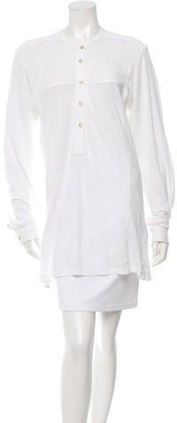 Étoile Isabel Marant Long Sleeve Button-Up Tunic White Button Down, Button Up, White Tunic, Burberry Brit, Long Sleeve Tops, Women Tunic, Tunic Tops, Quarter Sleeve, Stylish