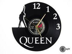 Queen, Freddie Mercury Vinyl Record Clock Www.revinylit.com