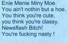 Enie Menie Miny Moe....