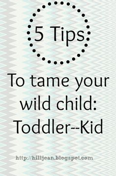 5 tips to tame your wild child.. made me smile :)