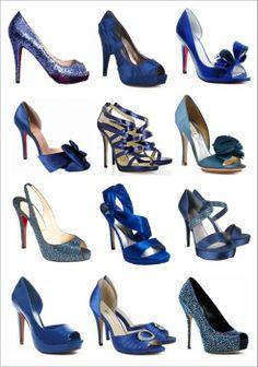 zapatos en tonos azules