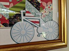 Spring Chevron and Bicycle Art {Made with Silhouette} ~ Silhouette School