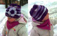 Čepice ze šikmých reliefních sloupků návod na kytičku   Mimibazar.cz Winter Hats, Crochet Hats, Flowers, Fashion, Tejidos, Weaving, Knitting Hats, Moda, Fashion Styles