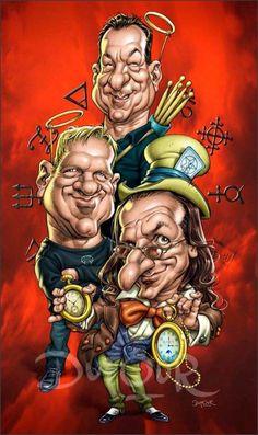 Caricature of our Clockwork Angels. Neil Peart, Cartoon Faces, Funny Faces, Cartoon Drawings, Cartoon Art, Hard Rock, Rush Albums, Rush Music, Rush Band