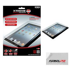 Rebelite Indestructible Screen Protector for iPad 2, 3, 4 with Military Grade Shock, Scratch, & Break Resistant Material