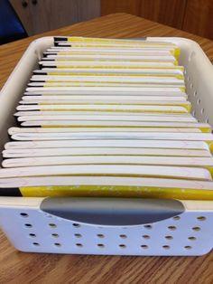 cutting mini notebooks for conversation books.