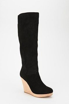cooperative suede wedge boot $99