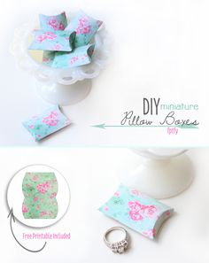 Diy Gift Boxes: Free DIY Miniature Pillow Box Printables - Free Pretty Things For You