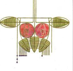 Charles Rennie Mackintosh Rose Boudoir Reproduction Greeting Cards