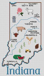 United States Map - Indiana