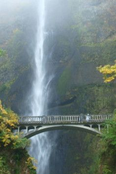 a breathtaking year-round waterfall! Multnomah Falls. Wow, this is beautiful!